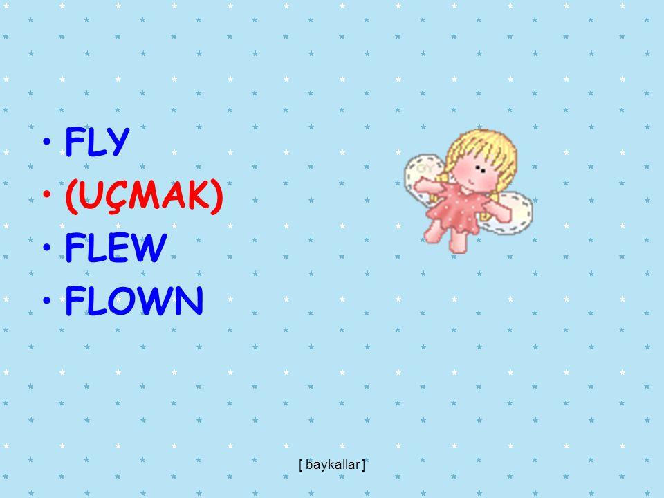 FLY (UÇMAK) FLEW FLOWN [ baykallar ]